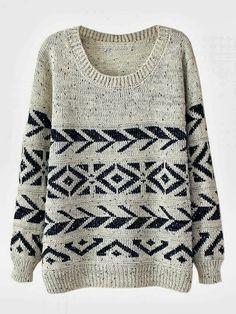 Casual Round Neck Warm Sweater