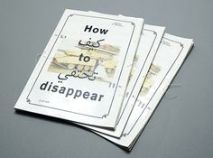 How to Disappear  Esp51 Multilingual Editorial Design