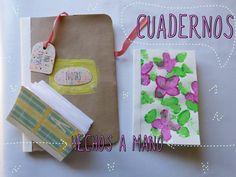 Cuadernos  hechos a mano y decorados por ti  (manualidad día de la madre...