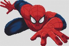 PDF Cross Stitch Pattern Spider-Man Instant by LetsMakeCrafts