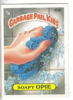 Garbage Pail Kids 1987 #304B Soapy Opie