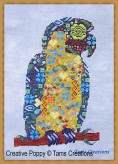 Tams Creations Chart Parrot in Patches | eBay