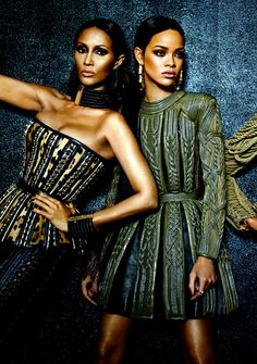 """thefashionbubble:  Iman & Rihanna in """"Phresh Out the Runway"""" for W Magazine September 2014, ph. by Emma Summerton."""