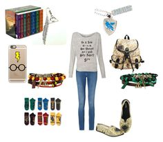"""Potter Head!!"" by futurestar12 ❤ liked on Polyvore featuring Calvin Klein and Casetify"