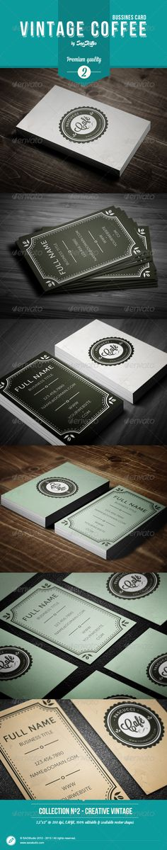 Vintage Coffee Business Card - Retro/Vintage Business Cards
