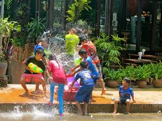 Pi Mai Lao in April - Lao New Year where you are guaranteed to get wet!