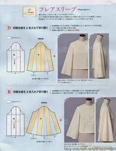 Sensational Tips Sewing Pattern Ideas. Brilliantly Tips Sewing Pattern Ideas. Fashion Sewing, Diy Fashion, Ideias Fashion, Dress Sewing Patterns, Clothing Patterns, Pola Lengan, Sewing Sleeves, Sewing Blouses, Fashion Books