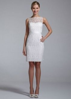2. DB #Studio Sleeveless #Short Organza #Floral Cut out Dress - 7 #Wedding Dresses to Wear Your Second Time #around ... → Wedding [ more at http://wedding.allwomenstalk.com ]  #Dresses #Satin #Cassini #Second #Ball