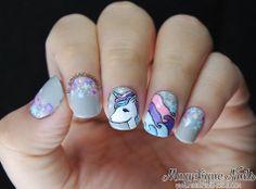 Alphabet Nail Art Challenge: U for Unicorn