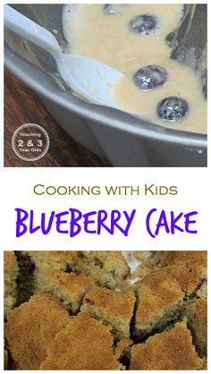 Making blueberry cake with kids! From Teaching 2 and 3 Year Olds