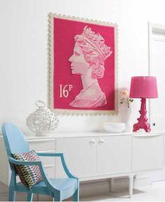 Tapetes Com Selos da Rainha Elizabeth II - Queen Elizabeth II Stamp Rugs Gosto Disto! Home Interior, Interior Styling, Wedding Countdown, Blog Deco, Wall Decor, Wall Art, Room Accessories, Home Living, Living Rooms