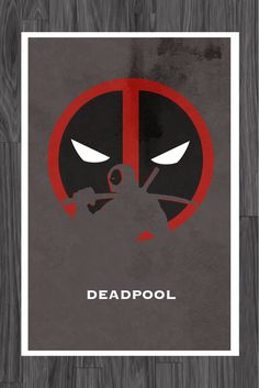Minimalist Art Print of Deadpool from Marvel. Art Poster is Comic Book Characters, Marvel Characters, Comic Books Art, Comic Art, Marvel Dc Comics, Marvel Heroes, Marvel Avengers, Deadpool Art, Deadpool Stuff