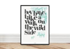 Kunstdruck Poster / Wild Side von typealive auf DaWanda.com