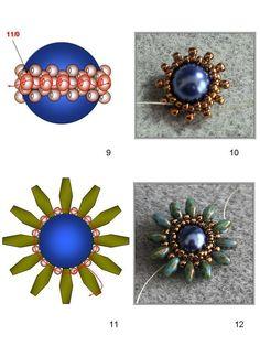 Görüntünün olası içeriği: 1 kişi, mücevher Beading Patterns Free, Beading Tutorials, Embroidery Jewelry, Beaded Embroidery, Twin Beads, Hand Art, Button Crafts, Beaded Flowers, Bead Weaving