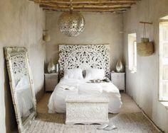 Orientalisches schlafzimmer ~ Schlafzimmer inspiration mit wandfarbe grün und diy bett kopfteil