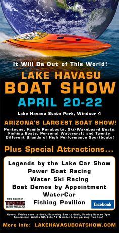Lake Havasu Boat Show, coming UP!!