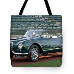 1955 Lancia Aurelia B24 Spyder America Roadster Tote Bag by Jill Reger