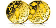 Złoty medal uwieczniający sukces Polaków na Euro 2016
