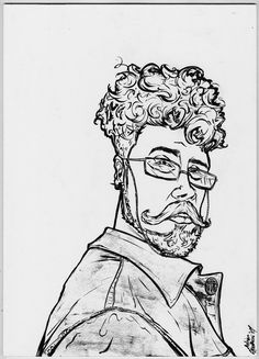 Erwin Noz [04-02-2017] Ink on wood [30 x 41,5 cm]