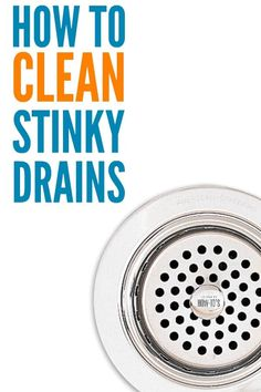 How To Clean Stinky Drains - Is your kitchen sink giving off odors? Does your bathroom sink or shower drain smell foul? Here's how to get the funk out and keep your drains flowing well. Smelly Kitchen Drain, Smelly Shower Drain, Shower Drain Smell, Kitchen Sink Smell, Smelly Bathroom, Bathtub Drain, Kitchen Sinks, Bathroom Cleaning, Kitchen Appliances