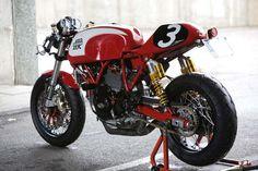 Cafe Racer Tail Light › Custom Standalone Tail Light on Radical Ducati Sport Classic 1000 Cafe Veloce