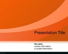 Abstract Curves PowerPoint Template is a free orange PPT template with radiant curved lines that you can download for presentations