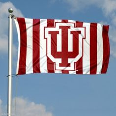 Indiana Hoosiers Candy Stripe Flag
