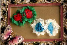 Merry & Bright} Headband, Baby Headband, Hair Clip, Photography Prop, Snowflake Headband, Christmas Headband, Shabby Chic, Bow Headband