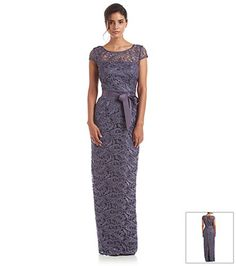 Mother of the bride dress in navy adrianna papell illusion and lace rn