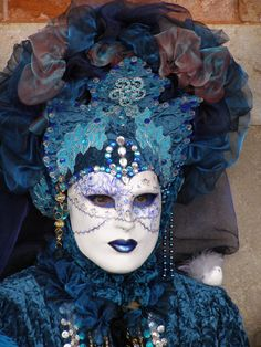 The Blues have it. Venice Carnival 2015 by Lesley McGibbon