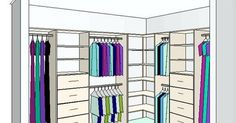 l shaped closet design ideas | Below is an example of an 'L' shaped robe configuration -The ... | master bedroom design photos | Pinterest | Corner wardrobe, C…