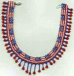 Beaded Patriotic Necklace & Earrings Pattern