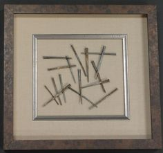 Antique nails turned into modern art