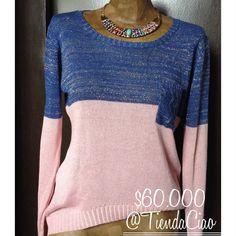 Buso dos colores $60.000 Collar $22.000  #moda #fashion #buso #domicilio #envios #colombia #feriadeflores