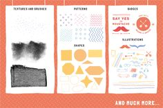 Hipster graphic stuff (Ai, Ps) by Vítek Prchal on Creative Market
