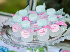 Mini Bubbles Party Favors for a little girl's tea party