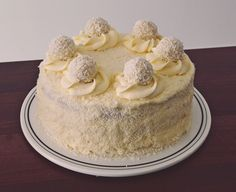 Tort Raffaello Cakes And More, Yummy Cakes, Vanilla Cake, Coco, Biscuits, Good Food, Food And Drink, Pudding, Caramel