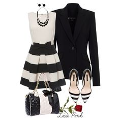 """""""MONOCHROMATIC BLACk AND WHITE"""" by lichiep on Polyvore"""
