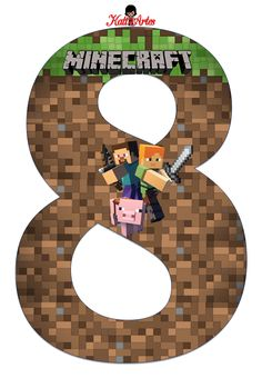 Minecraft Letter and Numbers, Minecraft Crafts, Minecraft Birthday Decorations, Creeper Minecraft, Minecraft Birthday Party, Minecraft Cake, Birthday Party Games, Minecraft Skins, 8th Birthday, Party Party