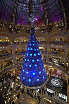 Christmas Tree at Galeries Lafayette, Paris This store in Paris is HUGE !!!! and also beautiful