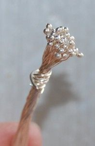 Jewelry Making 101: How to make head pins with a ball endNote: if you aren't using real silver wire or 100% copper wire, this method may not work. I know from personal experience that you can melt sterling silver, fine silver, copper, and argentium silver with a propane torch.