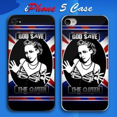 God Save The Queen Custom iPhone 5 Case Cover