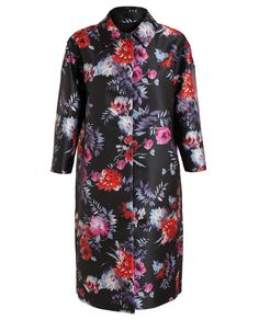 GIAMBATTISTA VALLI   Floral Print Cocoon Coat
