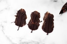 How to make impressive chocolate feathers
