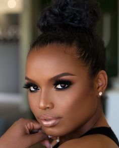 Makeup Looks Dark Skin Black Women 17 Ideas For 2019 Eye Makeup Tips, Smokey Eye Makeup, Hair Makeup, Makeup Ideas, Makeup Tricks, Smokey Eyeshadow, Smoky Eye, Makeup Geek, Makeup Tutorials