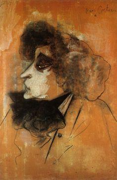 """workman: """" angeheurtebise: Portrait de Colette par Jean Cocteau. """""""