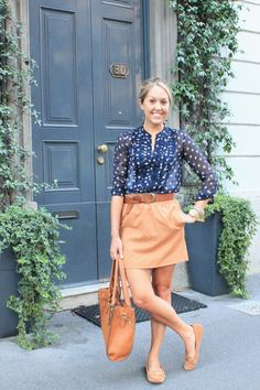 Love this outfit - colors/polka-dots!