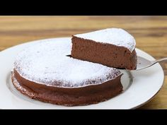 This chocolate cake recipe is so quick and easy to make. All you need is chocolate and eggs and you have fudgy chocolate cake! This cake is glut. Chocolate Lasagna, Keto Chocolate Cake, Chocolate Recipes, Quick Easy Desserts, No Cook Desserts, Just Desserts, Easy Nutella Brownies, Homemade Chocolate Ice Cream, Gluten Free Ice Cream