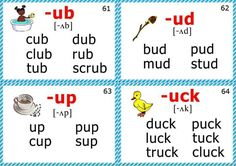 phonics flashcards for kids short u sound Phonics Chart, Phonics Flashcards, Phonics Rules, Flashcards For Kids, Kids English, English Words, English Lessons, Learn English, Jolly Phonics