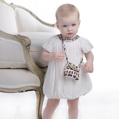Minus the purse and the leopard print, it's a cute dress! Cheap Baby Clothes, Baby Clothes Shops, Cute Kids Fashion, Baby Girl Fashion, Toddler Girl Outfits, Boy Outfits, My Baby Girl, Child Baby, Baby Couture